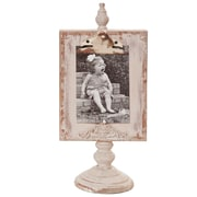 Wilco Home Shabby Elegance Clipboard Tabletop Picture Frame; White