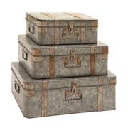 Woodland Imports 3 Piece Trunk Set
