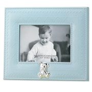 Lawrence Frames Faux Leather Picture Frame; Blue