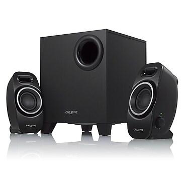 Creative® Labs A250 9 W 2.1 Speaker System, Black