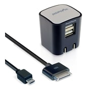 DigiPower® 2.1 amp Dual USB Rapid Wall Charger, Black