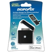 Mizco DigiPower® JS1-IP 5 VDC Mini External Rechargeable Instant Charger For iPhone/iPod, Black