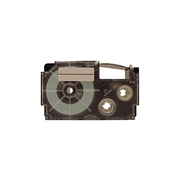 Casio® 6mm Label Printer Tape, Black On White