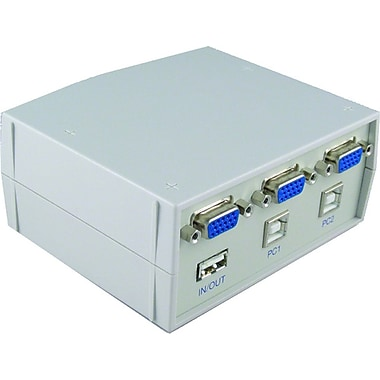 Addlogix® 2 Port USB/VGA KVM Switch