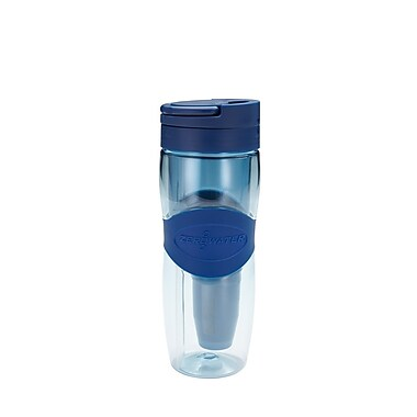 Zero Water® ZB030 Travel Water Bottle, Blue/Clear, 28 oz.