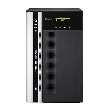 Thecus® N8850 8 Bay Intel Core SATA HDD Top Tower Large Business NAS Server, Black/White
