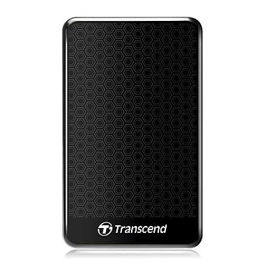 Transcend® StoreJet® 25A3 1TB Portable USB 3.0 Hard Disk Drive (Black)