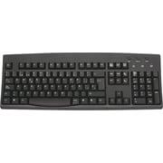 Solidtek® KB-260-BU-SP USB/PS/2 Spanish Keyboard, Black