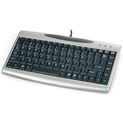 Solidtek® KB-3001SH USB 2.0 Mini Portable Keyboard, Black/Silver