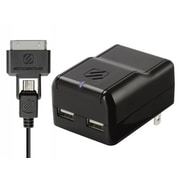 Scosche® reVOLT proh2 IUSBH202 2 Port USB Wall Charger With Charge/Sync Cable, Black
