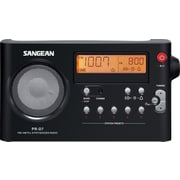 Sangean PR-D7 AM/FM Compact Digital Tuning Portable Receiver, Black