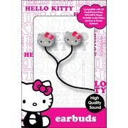 Sakar® HKBL1000-BBB Hello Kitty Bling Earbuds, Black