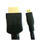 Professional Cable HDMI-MIC-2M 6' HDMI to Micro HDMI Cable, Black