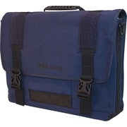 Mobile Edge Eco Friendly Canvas Messenger Bag For Laptops Up to 17.3, Navy Blue