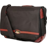 Mobile Edge Maddie Powers Messenger Bag For 15.4 to 17 Mac Dig Laptop, Black/Burgundy