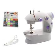Michley Electronics LSS-202 COMBO Portable Mini Sewing Machine Kit, White