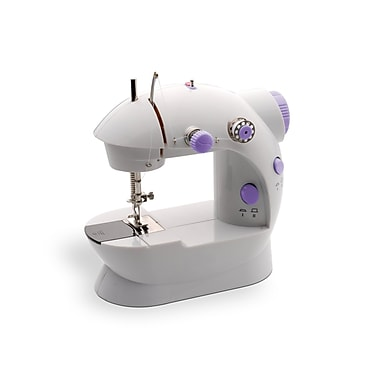 Michley Tivax LSS-202 8-Stitch Portable Mechanical Mini Sewing Machine With Electric Scissors, White