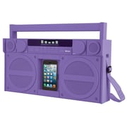 iHome IHMIBT44UC Bluetooth  Portable FM Stereo Boom Box with USB Charging, Purple