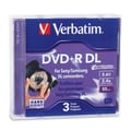 Verbatim® 2.4x 2.6 GB Mini Double Layer Recordable Disc, Jewel Case, 3/Pack