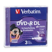 Verbatim 95313 2.6 GB Mini DVD+R Double Layer Jewel Case, 3/Pack