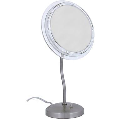 Zadro™ Surround Light™ 7x S-Neck Vanity Mirror, Satin Nickel
