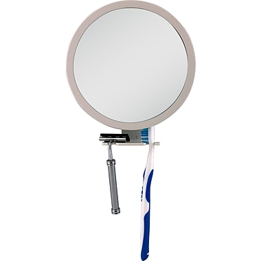 Zadro™ Z'Fogless™ 5x - 1x Adjustable Magnification Mirror With Dual Accessory Holder, White