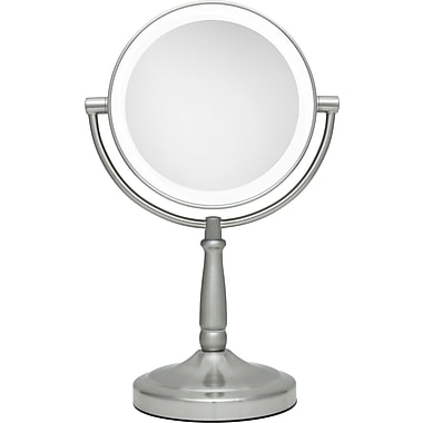 Zadro™ Next Generation™ 10x/1x Cordless LED Lighted Vanity Mirror, Satin Nickel
