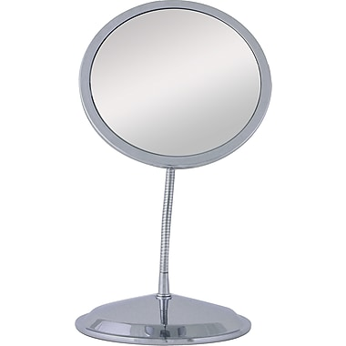 Zadro™ Double Vision™ 10x/5x Gooseneck Wall/Vanity Mirror, Chrome