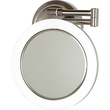 Zadro™ Surround Light™ 10x/1x Plug In Wall Mirror, Satin Nickel