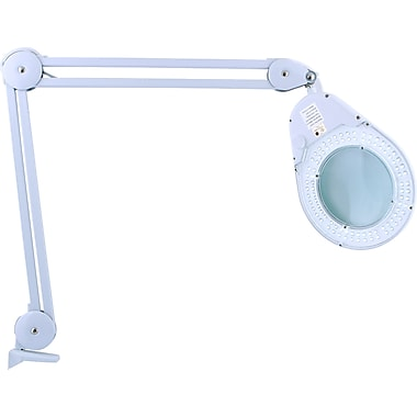 Zadro™ Bright LED Lighted Clamp On Natural Daylight Magnifying Table Lamp, White