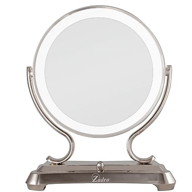 Zadro™ 5x/1x Glamour Vanity Mirror, Polished Nickel