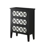 Monarch® MDF Contemporary Bombay Chest, Black/Mirror
