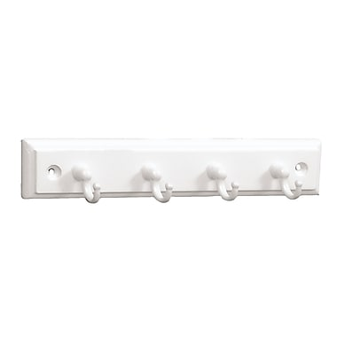 Brainerd Wood/Zinc Die Cast 4 Hooks Key Rail 9