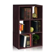 Way Basics Eco-Friendly 3 Shelf Laguna Bookcase Storage Shelf, Espresso Wood Grain - Lifetime Warranty