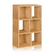 Way Basics Eco-Friendly 3 Shelf Laguna Bookcase Storage Shelf, Natural Wood Grain - Lifetime Warranty