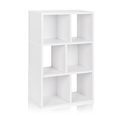 Way Basics Laguna 22.8'' 3-Shelf Bookcase, White (WB-3SC-WE)