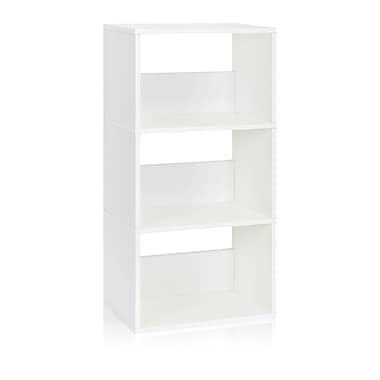 Way Basics Triplet 22.8'' 3-Shelf Bookcase, White (WB-3SR-WE)