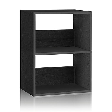 Way Basics Duplex 22.8'' 2-Shelf Bookcase, Black (WB-2SR-BK)