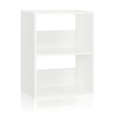 Way Basics Duplex 22.8'' 2-Shelf Bookcase, White (WB-2SR-WE)