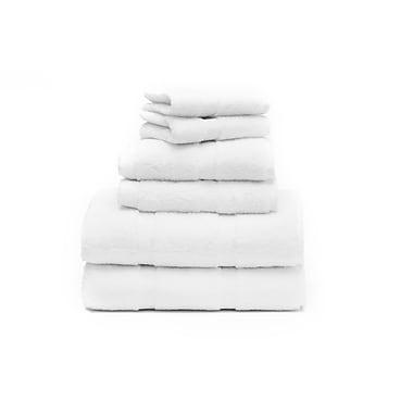 Ensemble de serviettes moelleuses, blanc