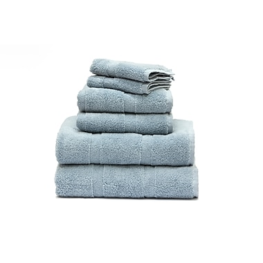 Plush Towels Set, Pearl Blue