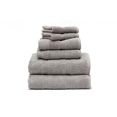 Plush Towels Set, Marble Grey