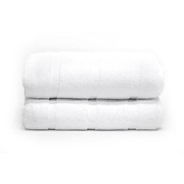 Serviettes de bain moelleuses, blanc