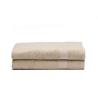 Ensemble de serviettes de bain en rayonne de bambou, lin