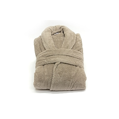 Plush Bathrobe Taupe L/XL