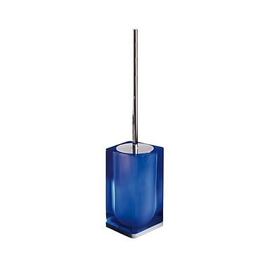 Gedy by Nameeks Iceberg Free Standing Toilet Brush and Holder; Blue