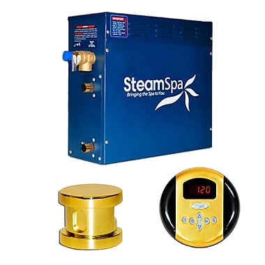 Steam Spa SteamSpa Oasis 6 KW QuickStart Steam Bath Generator Package; Gold