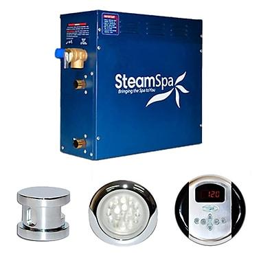 Steam Spa SteamSpa Indulgence 4.5 KW QuickStart Steam Bath Generator Package; Chrome