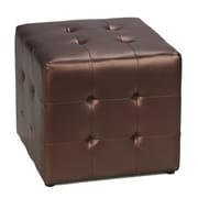 Cortesi Home Apollo Cube Ottoman; Bronze