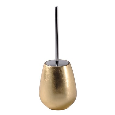 Gedy by Nameeks Almira Free Standing Toilet Brush and Holder; Gold